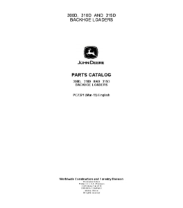 John Deere 300d 310d 315d Backhoe Loader Manual Parts Catalog Pc2321 | eBooks | Automotive