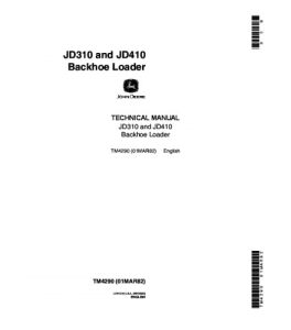 John Deere 310 410 Backhoe Loader Service Technical Manual Series Tm4290 | eBooks | Automotive