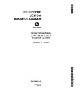 John Deere 310a Backhoe Loader Operators Manual Omt66837 | eBooks | Automotive