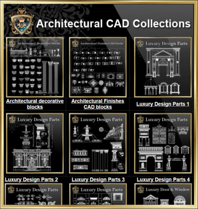 First Additional product image for - Architectural CAD Drawings Bundle-Best Collections!!