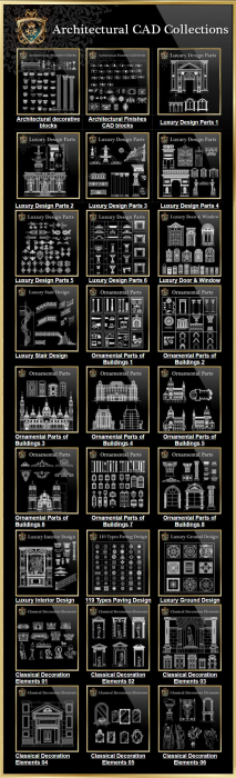 Second Additional product image for - Architectural CAD Drawings Bundle-Best Collections!!