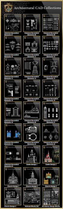 Third Additional product image for - Architectural CAD Drawings Bundle-Best Collections!!