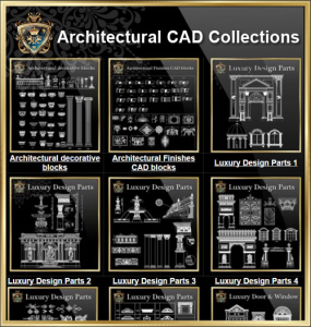 architectural cad drawings bundle-best collections!!