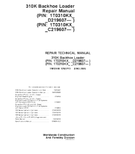 John Deere 1310k Backhoe Loader Repair Service Manual Tm2448 | eBooks | Automotive