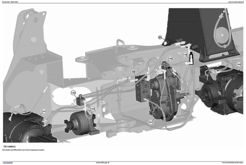 Fourth Additional product image for - John Deere 643L (SN.from F666898) Wheeled Feller Buncher Diagnostic&Test Service Manual (TM13125X19)