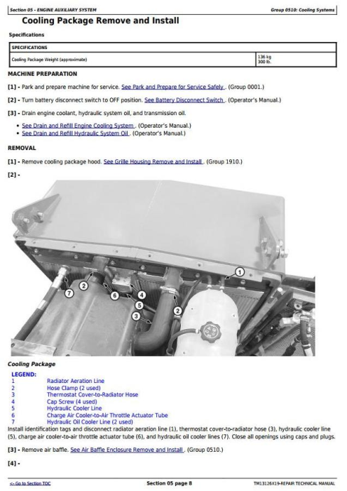 Second Additional product image for - John Deere 643L (SN. F666898-) Wheeled  Feller Buncher Service Repair Technical Manual (TM13126X19)