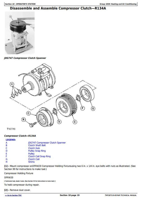 Fourth Additional product image for - Timberjack / John Deere 608B (SN.05014-) Tracked Feller Buncher Technical Service Manual (tmf387520)