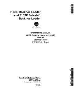 John Deere 310se 315se Sideshift Backhoe Loader Operators Manual Omt184377 | eBooks | Automotive