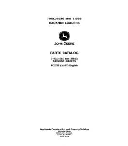 John Deere 310g 310sg 315sg Backhoe Loader Manual Parts Catalog Pc2755 | eBooks | Automotive