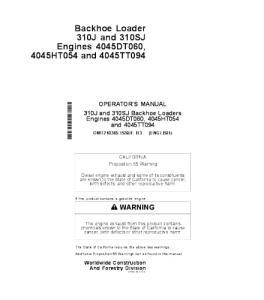 John Deere 310j 310sj Backhoe Loader Operators Manual Omt210365 | eBooks | Automotive