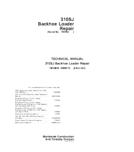 John Deere 310sj Backhoe Loader Repair Service Manual Tm10849 | eBooks | Automotive