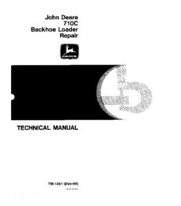 John Deere 710c Backhoe Loader Technical Service Manual Tm1451 | eBooks | Automotive