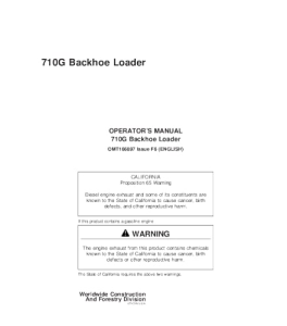 John Deere 710g Backhoe Loader Operators Manual Omt166897 | eBooks | Automotive