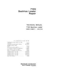 John Deere 710g Backhoe Loader Technical Service Manual Tm2061 | eBooks | Automotive