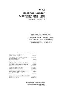 John Deere 710j Backhoe Loader Operation And Test Technical Service Manual Tm10874 | eBooks | Automotive