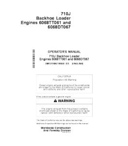 JOHN DEERE 710j BACKHOE LOADER OPERATORS MANUAL OMT211052 | eBooks | Automotive