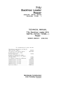John Deere 710j Backhoe Loader Technical Service Manual Tm10875 | eBooks | Automotive