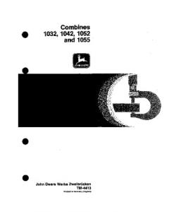 John Deere 1032 1042 1052 1055 Combine Technical Service Manual Tm4413 | eBooks | Automotive