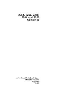 John Deere 2254 2256 2258 2264 2266 Combine Operator Manual Omz92501 | eBooks | Automotive