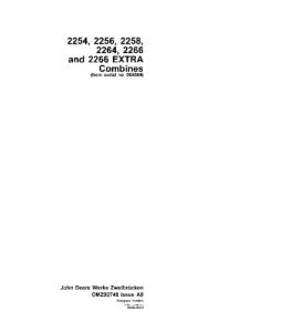 John Deere 2254 2256 2258 2264 2266 Combine Operator Manual Omz92748 | eBooks | Automotive