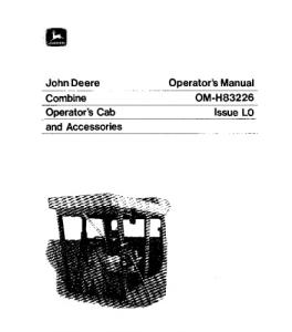 John Deere 4400 6600 7700 3300 Combine Operator Manual Omh83226 | eBooks | Automotive