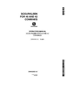 JOHN DEERE 40 42 COMBINE N ScourKleens OPERATOR MANUAL OMH90993 | eBooks | Automotive