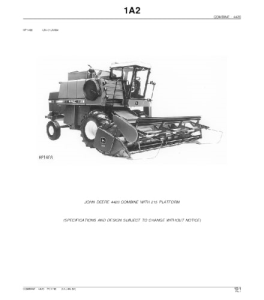 John Deere 4420 Combine Parts Catalog Manual Pc1745 | eBooks | Automotive