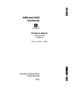 John Deere 4400 4420 Combine Technical Service Manual Tm1237 | eBooks | Automotive