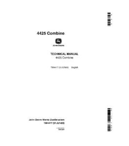 John Deere 4425 Combine T Technical Service Manual Tm4417 | eBooks | Automotive
