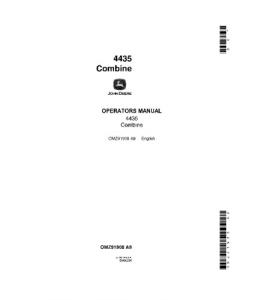 John Deere 4435 Combine Operator Manual Omz91908 | eBooks | Automotive
