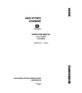 John Deere 4435 Hydro Combine Operator Manual Omz92026   eBooks   Automotive