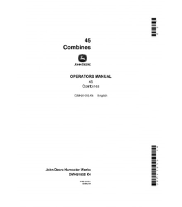John Deere 45 Combine Operator Manual Omh91055 | eBooks | Automotive