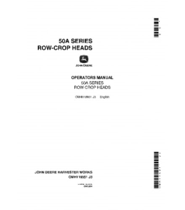 JOHN DEERE 50A Series Row-Crop Heads COMBINE OPERATOR MANUAL OMH116951 | eBooks | Automotive