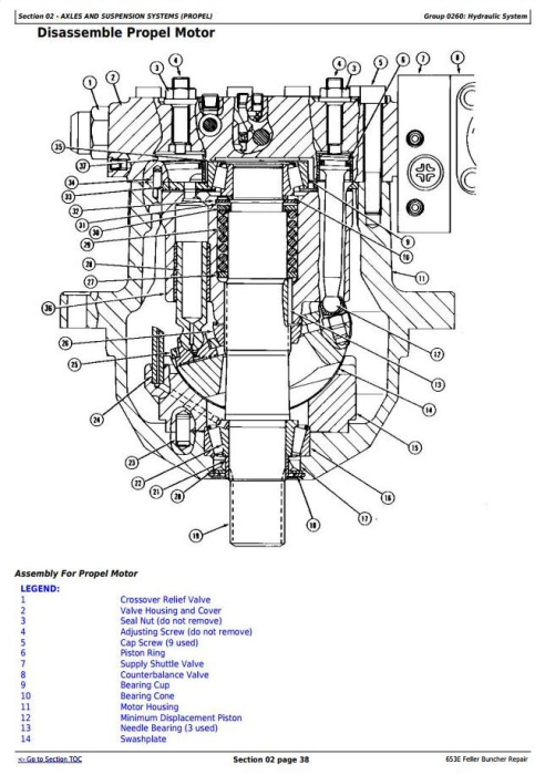 Third Additional product image for - John Deere 653E Tracked Feller Buncher Service Repair Technical Manual (tm1579)