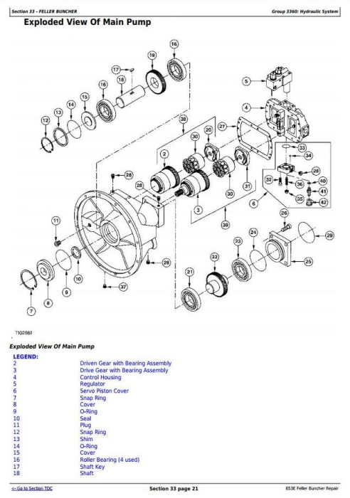 Fourth Additional product image for - John Deere 653E Tracked Feller Buncher Service Repair Technical Manual (tm1579)