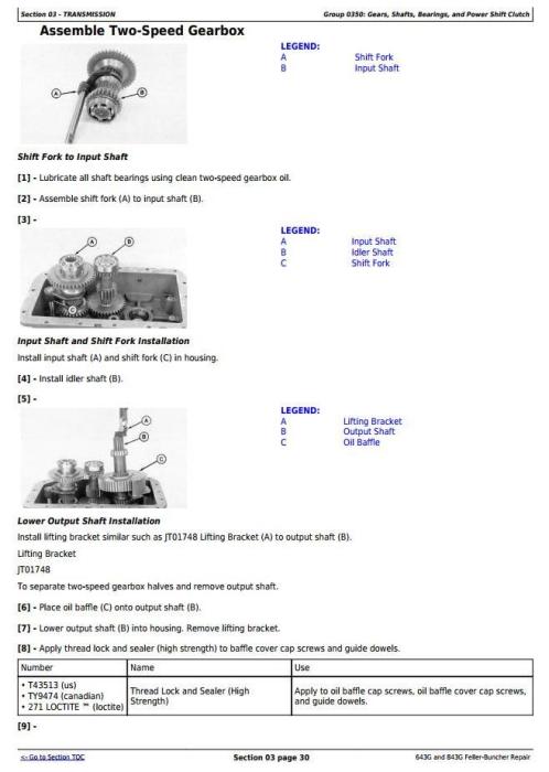 Second Additional product image for - John Deere 643G, 843G Wheeled Feller Buncher (Harvester) Service Repair Technical  Manual (tm1684)