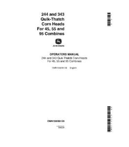 John Deere 45 55 95 244 343 Quik-Thatch Corn Heads Combine Operator Manual  Omn159208 | eBooks | Automotive