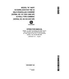 JOHN DEERE 55 65 Combines COMBINE OPERATOR MANUAL OMH46957 | eBooks | Automotive