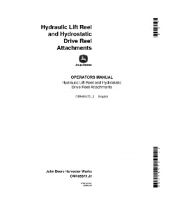 JOHN DEERE 4400 6600 7700 3300 Hydraulic Lift Drive Reel COMBINE OPERATOR MANUAL OMH85572   eBooks   Automotive
