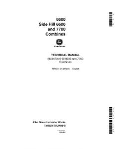 John Deere 6600 6600sh 7700 Combine Service Manual Tm1021   eBooks   Automotive