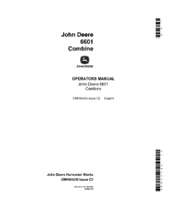 John Deere 6601 Combine Operator Manual Omh84345 | eBooks | Automotive