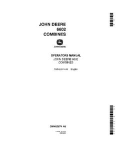 John Deere 6602 Combine Operator Manual Omh92874 | eBooks | Automotive
