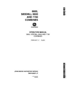 JOHN DEERE 6600 7700 Side Hill COMBINE OPERATORS MANUAL OMH100537 | eBooks | Automotive