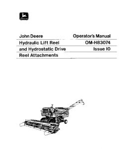 John Deere 4400 6600 7700 3300 Combine Operator Manual Omh83074 | eBooks | Automotive