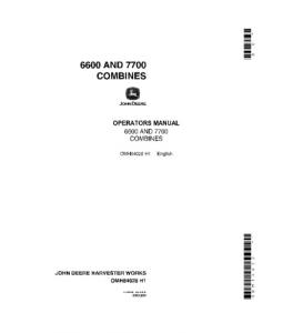 John Deere 7700 6600 Combine Operators Manual Omh84020   eBooks   Automotive