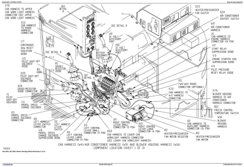 Second Additional product image for - John Deere 653G  (SN.880060-) Tracked Feller Buncher Diagnostic, Op. & Test Service Manual (tm1868)