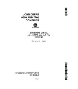 John Deere 6600 7700 Combine Operator Manual Omh86806 | eBooks | Automotive