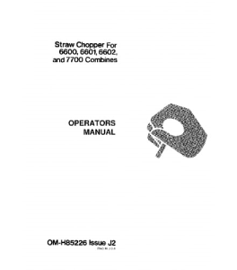JOHN DEERE 6600 6601 6602 7700 Straw Chopper COMBINE OPERATOR MANUAL OMH85226 | eBooks | Automotive