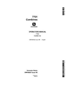John Deere 7701 Combine Operator Manual Omh98962 | eBooks | Automotive