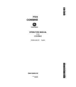 John Deere 7721 Combine Operator Manual Omh105656 | eBooks | Automotive